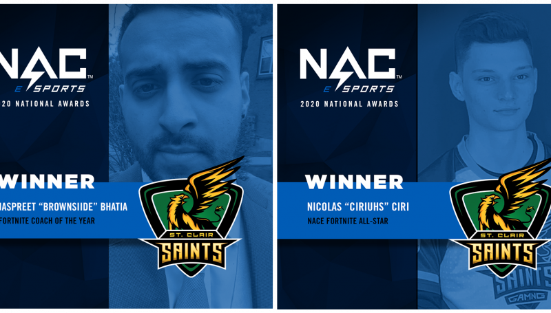 Jaspreet Bhatia, Fortnite Coach of the Year and Nicolas Ciri, Fortnite All-star - NACE
