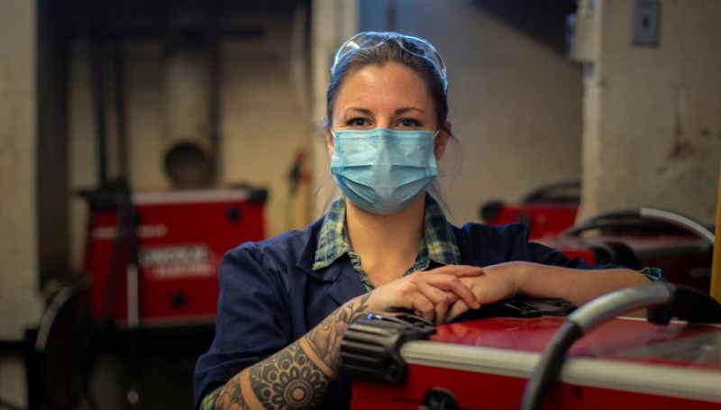 If a year ago, someone had painted a future picture of Kourtney Belisle's life, there was no way it would have included lathes, drills and welding torches.