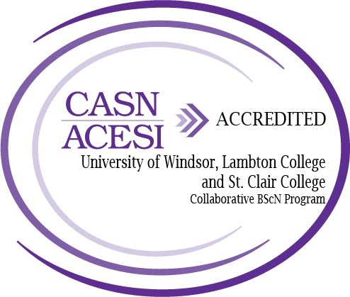 CASN/ACESI Accredited - University of Windsor, Lambton College and St. Clair College Collaborative BScN Program